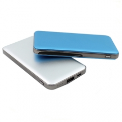 High-end Aluminium alloy li-polymer power bank 8000mah