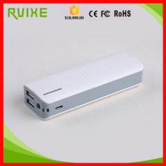 Ultra slim 10000mah power bank with dual USB ports and LED torch