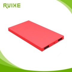 Ultra thin li-polymer power bank 5000mah with dual USB