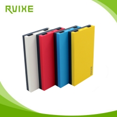 New Arrival contrast color design ultra thin 10000mah power bank with 2 usb