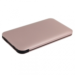 Ultra thin power bank with built-in cable and iphone tips