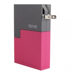 Rvixe Patent CONTRAST COLOR design wall charger with power bank 2 in 1.