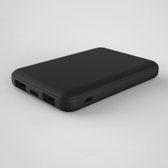most popular mini power bank 5000mAh with 2 way input 2 way output.