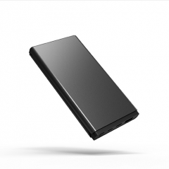 high end design metal power bank 10000mah with type-c input